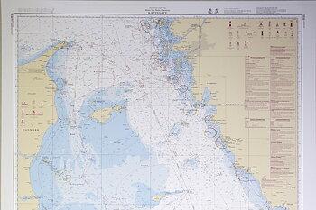 Kattegat Chart 112x77 cm