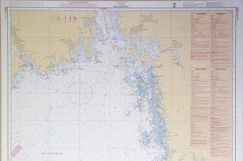Skagerrak Sjökort 112x77 cm