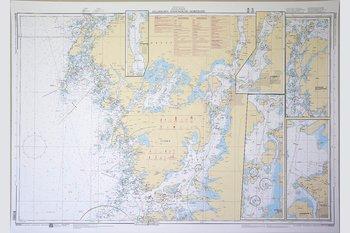 Gullholmen-Stenungsund-Marstrand Sjökort 77x112 cm