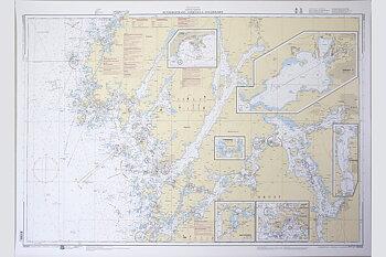 Hunnebostrand-Uddevalla-Gullholmen Sjökort 77x112 cm