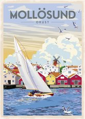Mollösund Poster 50x70 cm