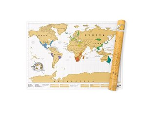 World Scratch Map 83x59 cm