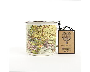 World Map Emaljmugg 500 ml