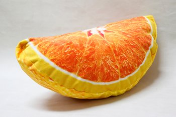 Orange Slice Pillow 38x18 cm