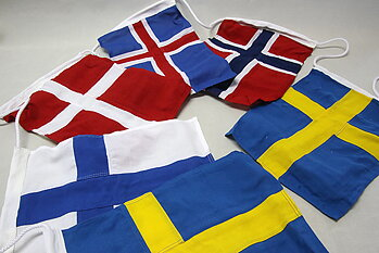 Nordic flag game 30x40 cm