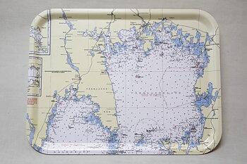 Sjökortsbricka Norra Vänern 33x43 cm