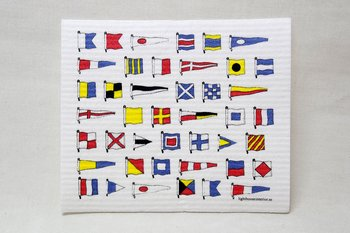 Code Flags Dishcloth 20x17 cm