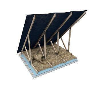 Knauf Isolering Träregelskiva 37 CC 600 195 mm