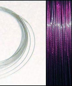 2,2m Wire 0,38mm: VIOLET lila + 20 SP klämpärlor