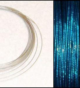 2,2m Wire 0,38mm: PETROL + 20 SP klämpärlor