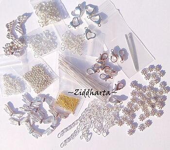 FYNDPAKET: Metalldelar Silverpläterat + Ängel för Smyckestillverkning