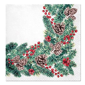 Julservetter VINTERGRENAR Winter Branches 33x33 cm