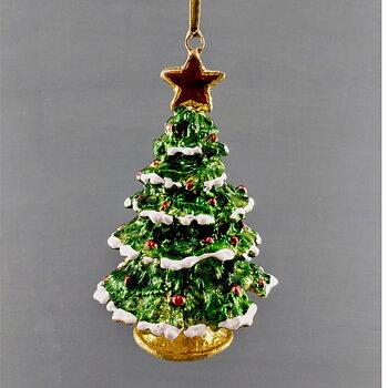 Julgranspynt JULGRAN Grön Ställ eller Häng, Höjd 8 cm