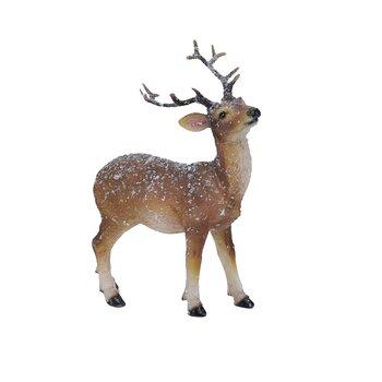 Juldekoration REN med snö Höjd 16 cm