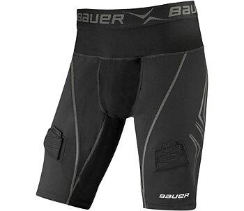 Bauer Premium LOCKJOCK Suspshorts - Sr