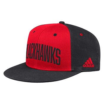 Adidas Flat Brim Snapback Cap - BLACKHAWKS