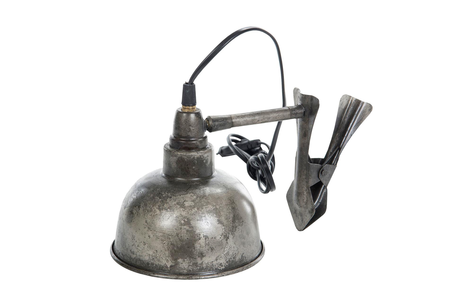 Lampa antik med clips 15cm