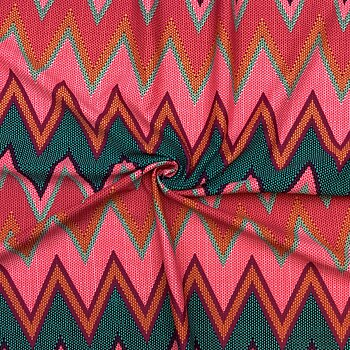 Printed swimwear fabric zigzag multicolour WT170zig