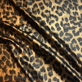 Animal print stretch lamé Gold LA701