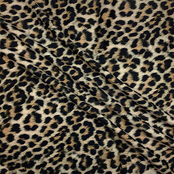 Printed swimwear fabric leopard brown WT190leobrown