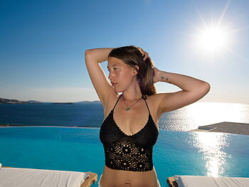 Handmade crochet top BLACK