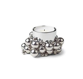 Molekyl Värmeljushållare Silver