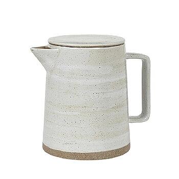 Stor Kanna I Keramik Med Vit Glasyr