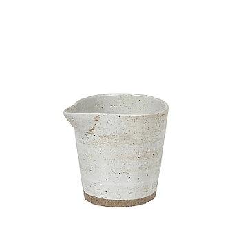 Mjölkkanna I Keramik Med Vit Glasyr