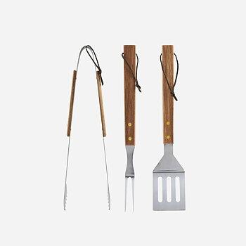 BBQ tools Acacia 3-set