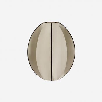 Liten Oval Skärm I Siden Kittfärgad/Svart