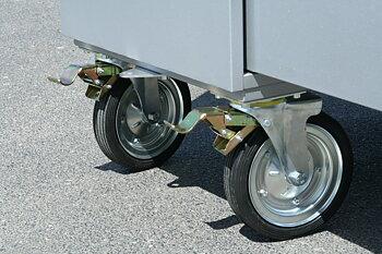 Massivt gummihjul till Alfako sadelskåp