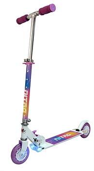 Sparkcykel med bromsljus och lyse (Svart eller Vit)
