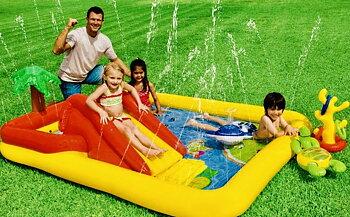Pool Ocean, playcenter med rutschkana - Intex