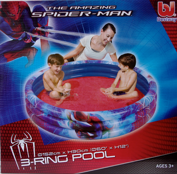 Pool, 3-Ring, Spindelmannan / Spider-Man, 152 x 30 cm - Bestway