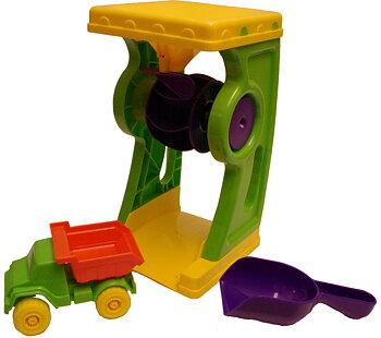 Vatten- och sandhjul med spade och lastbil - Plasto