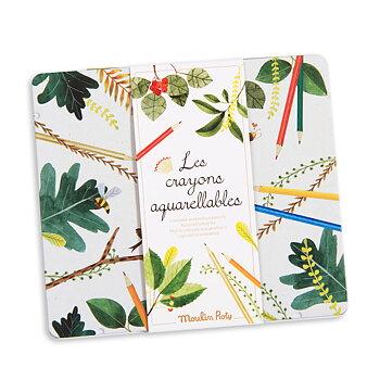 Färgpennor i plåtask Le Jardin