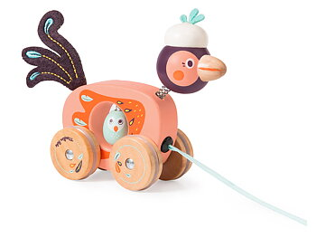 Pull toy bird 'Dans la Jungle' small
