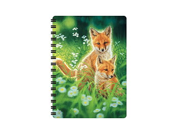 Notebook 3D Spring Foxes small