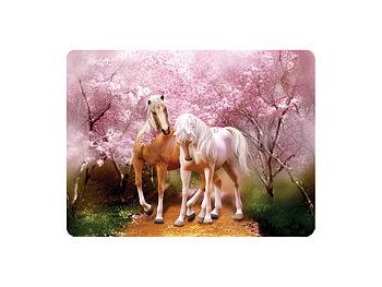 Kort 3D Hästar & körsbärsblomster