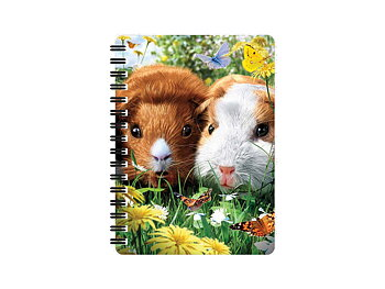 Notebook 3D Guinea pigs small