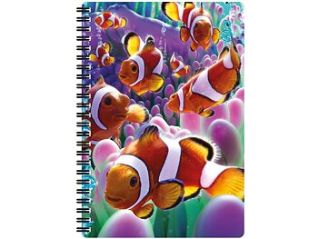 Notebook 3D Clownfish large
