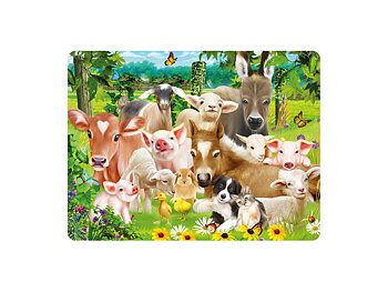 Card 3D Baby farm animals