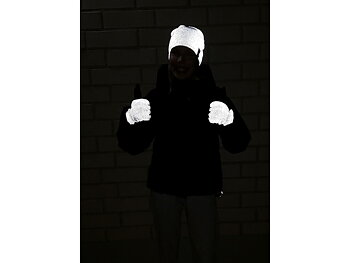 Reflector mittens black