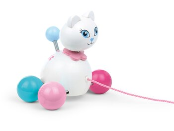 Pull Toy 'Cat Minette' white
