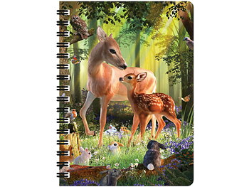 Notebook 3D Deer at dawn large