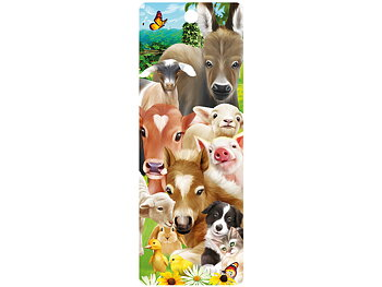 Bookmark 3D Baby farm animals