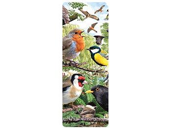 Bokmärke 3D Småfåglar i skogen