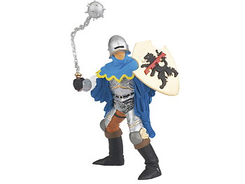 Knight with Mace blue