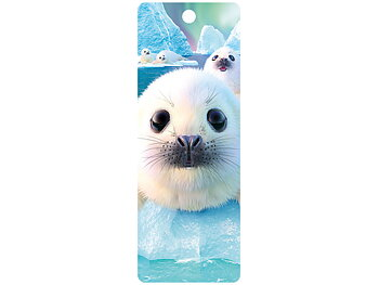 Bookmark 3D Seal Pups