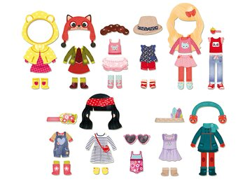 Doll Chloé with magnetic clothes
